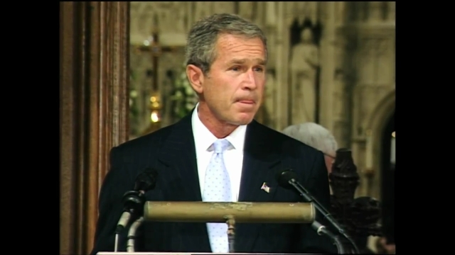 "BUSH'S MESSAGE TO 9/11 ""MOURNERS"""