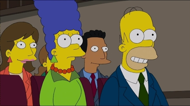 Simpsons.S25E15. RED = STOP GREEN = GO
