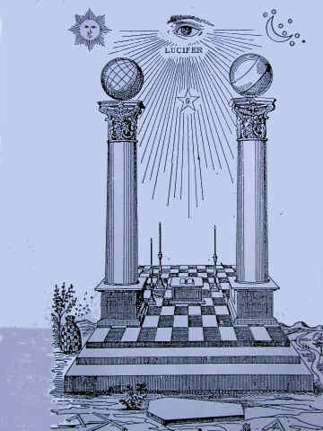 BLACKJACK MASONIC PILLARS LUCIFER