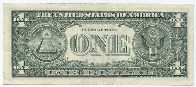 MASONIC ONE DOLLAR BILL